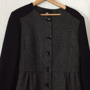 Black and Grey Pea Coat size 12